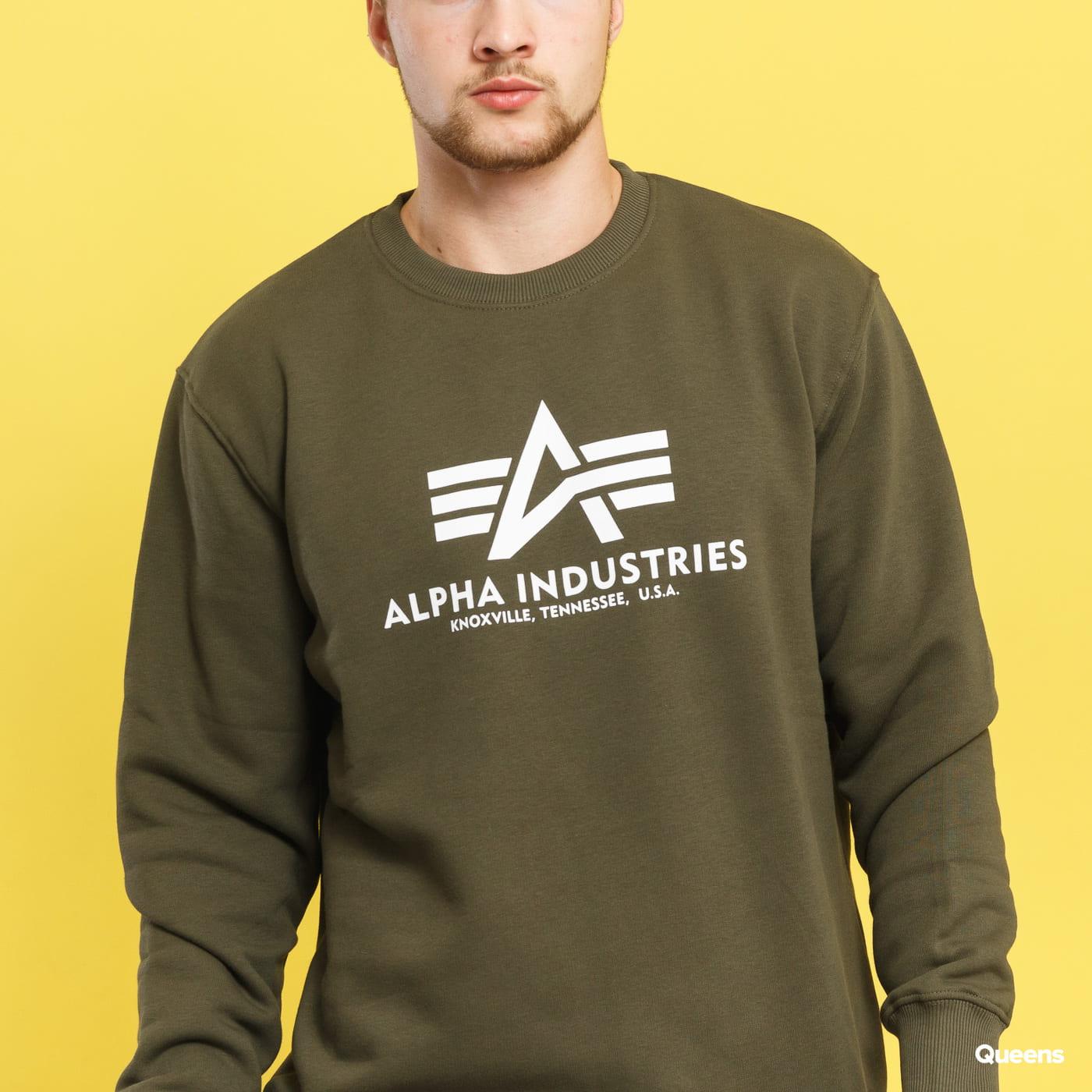 Alpha Industries Basic Sweater dunkeloliv