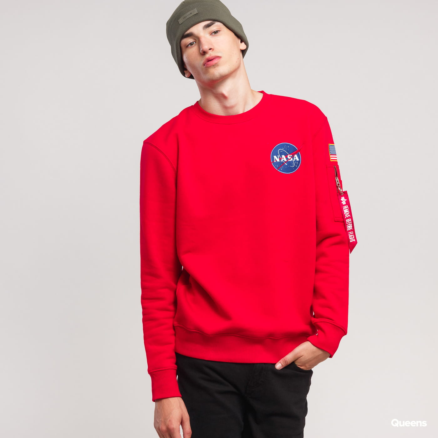 Alpha Industries Space Shuttle Sweater rot