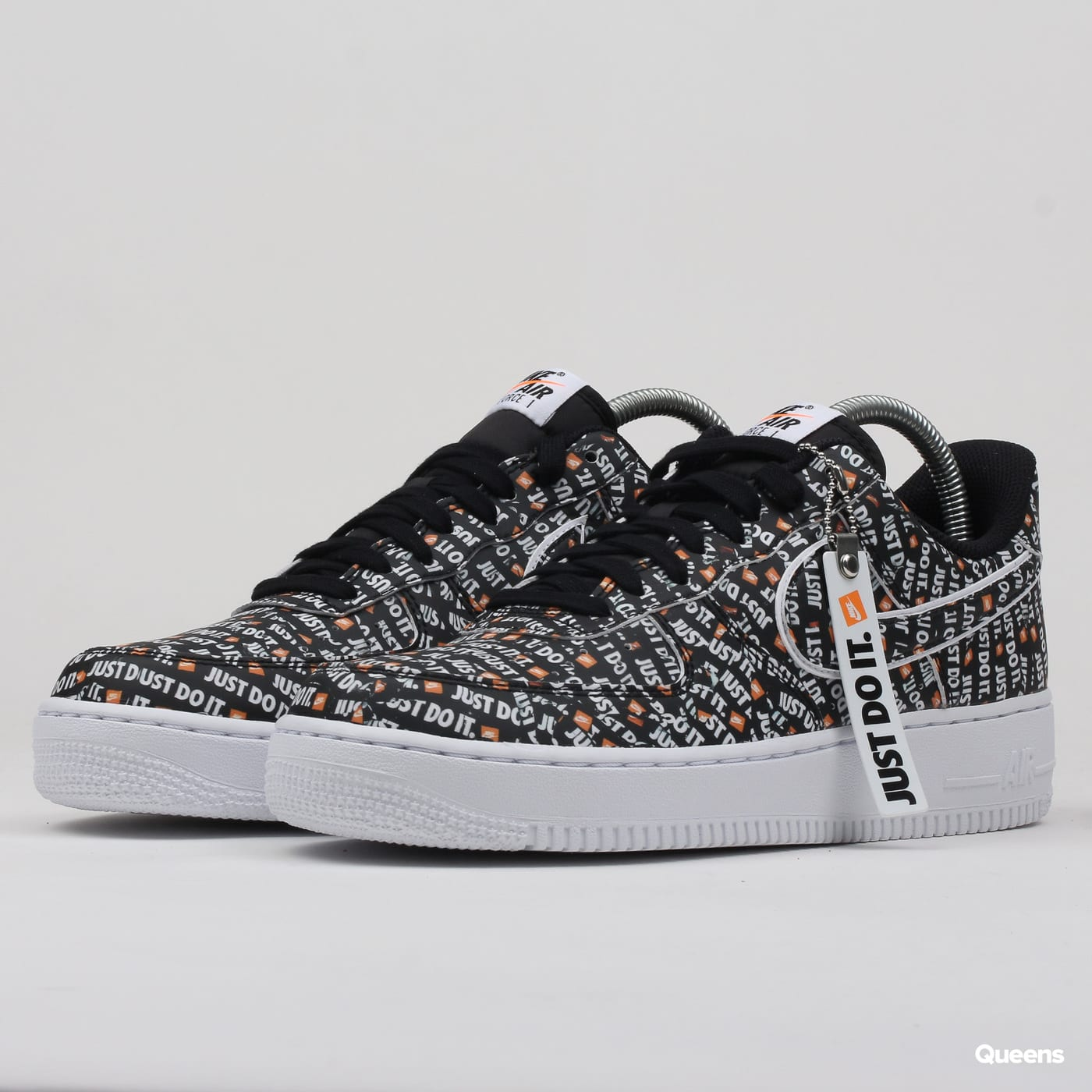 426d0431c Sneakers Nike Air Force 1 '07 LV8 JDI black / black - white - total orange ( AO6296-001) – Queens 💚