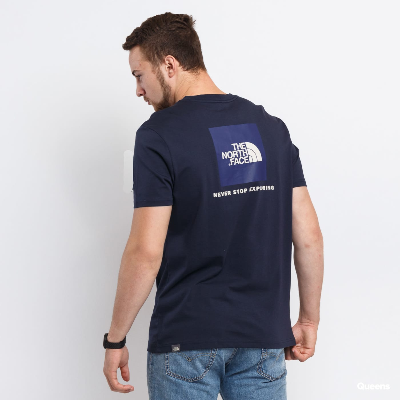 The North Face M SS Red Box Tee navy