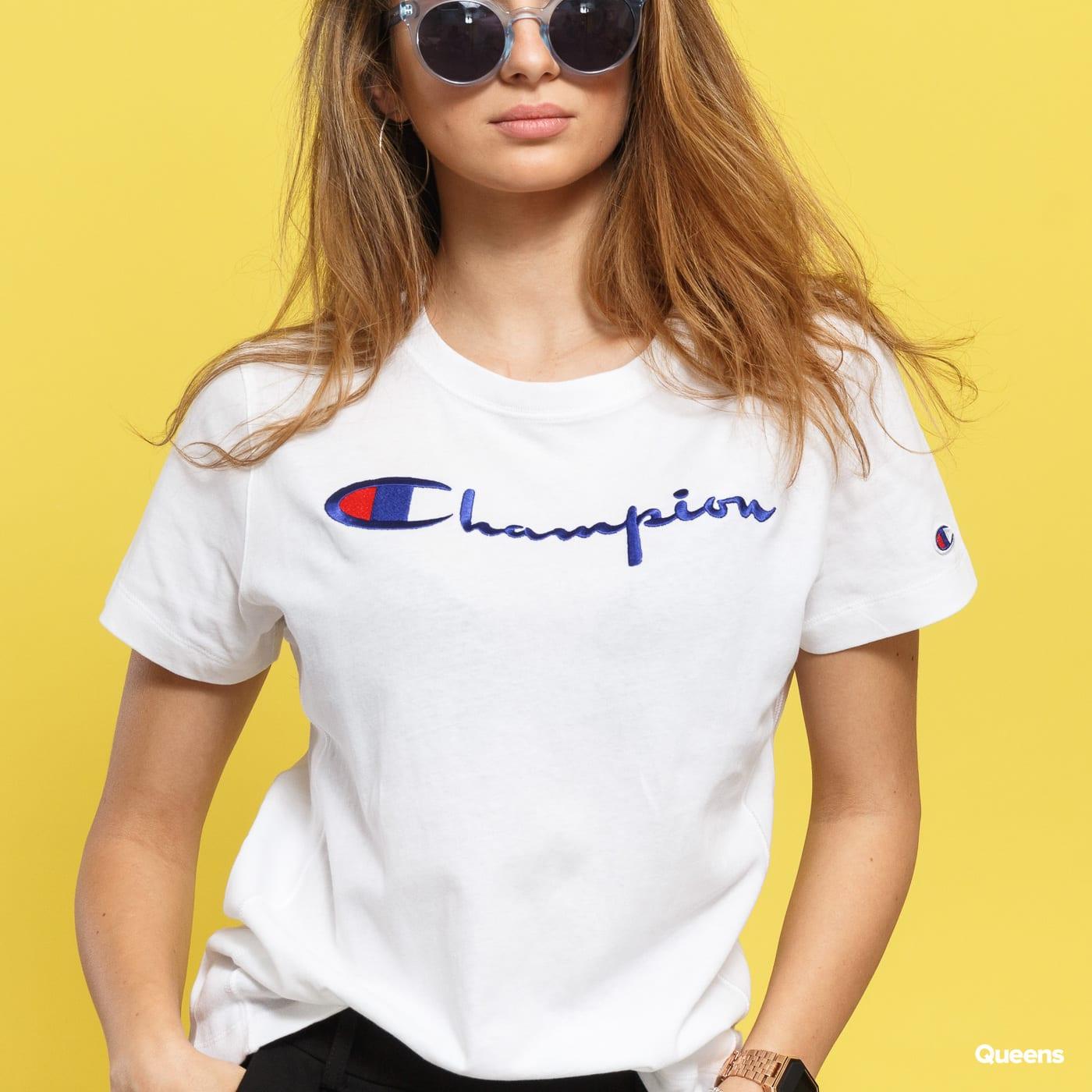 Champion Crewneck Tee biele