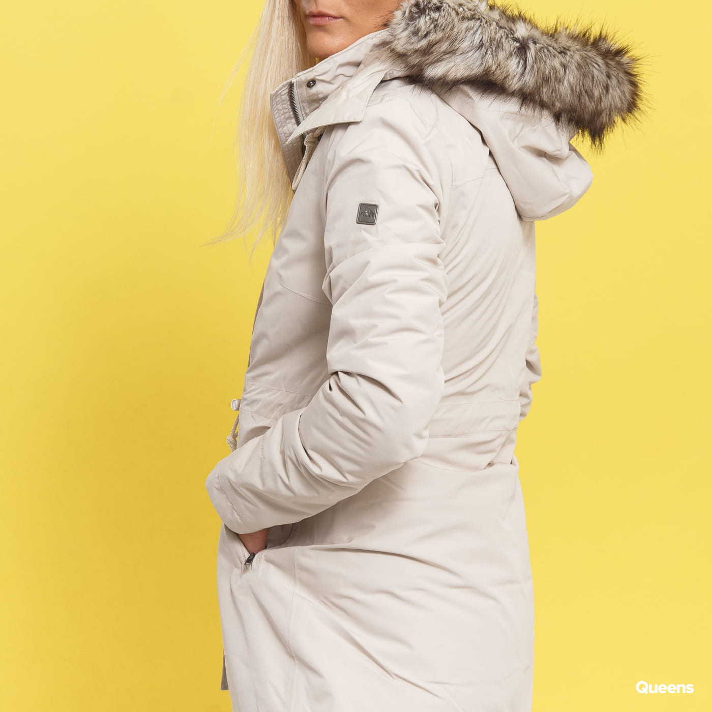 The North Face W Zaneck Parka krémová