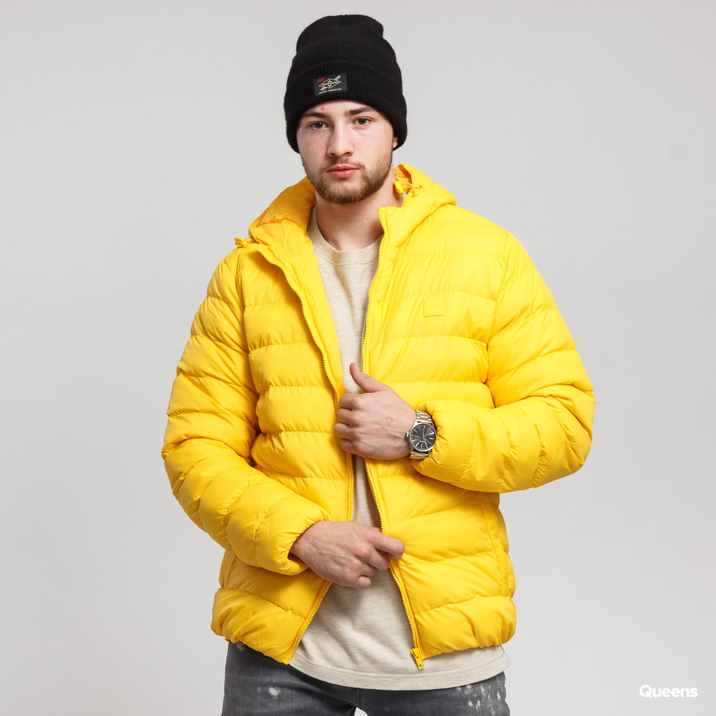 Urban Classics Basic Bubble Jacket žltá