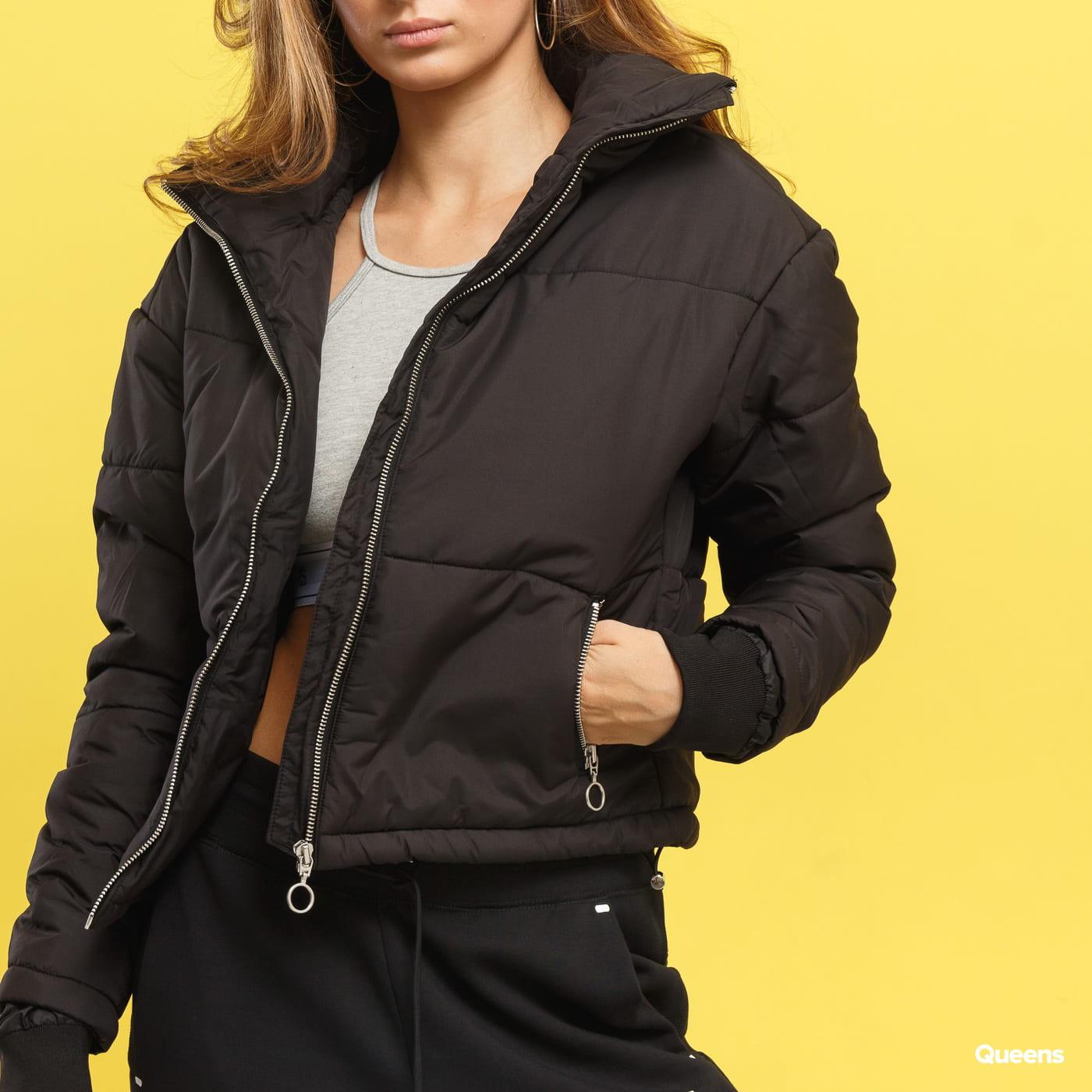 Urban Classics Ladies Oversized High Neck Jacket schwarz