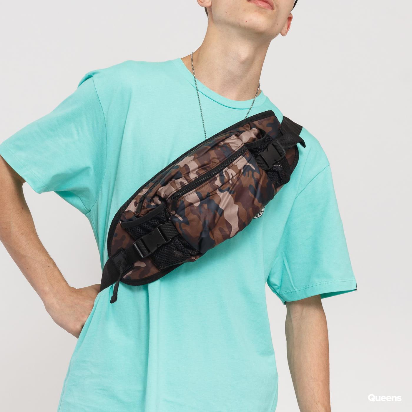 Urban Classics NYlon Hip Bag camo brown / black
