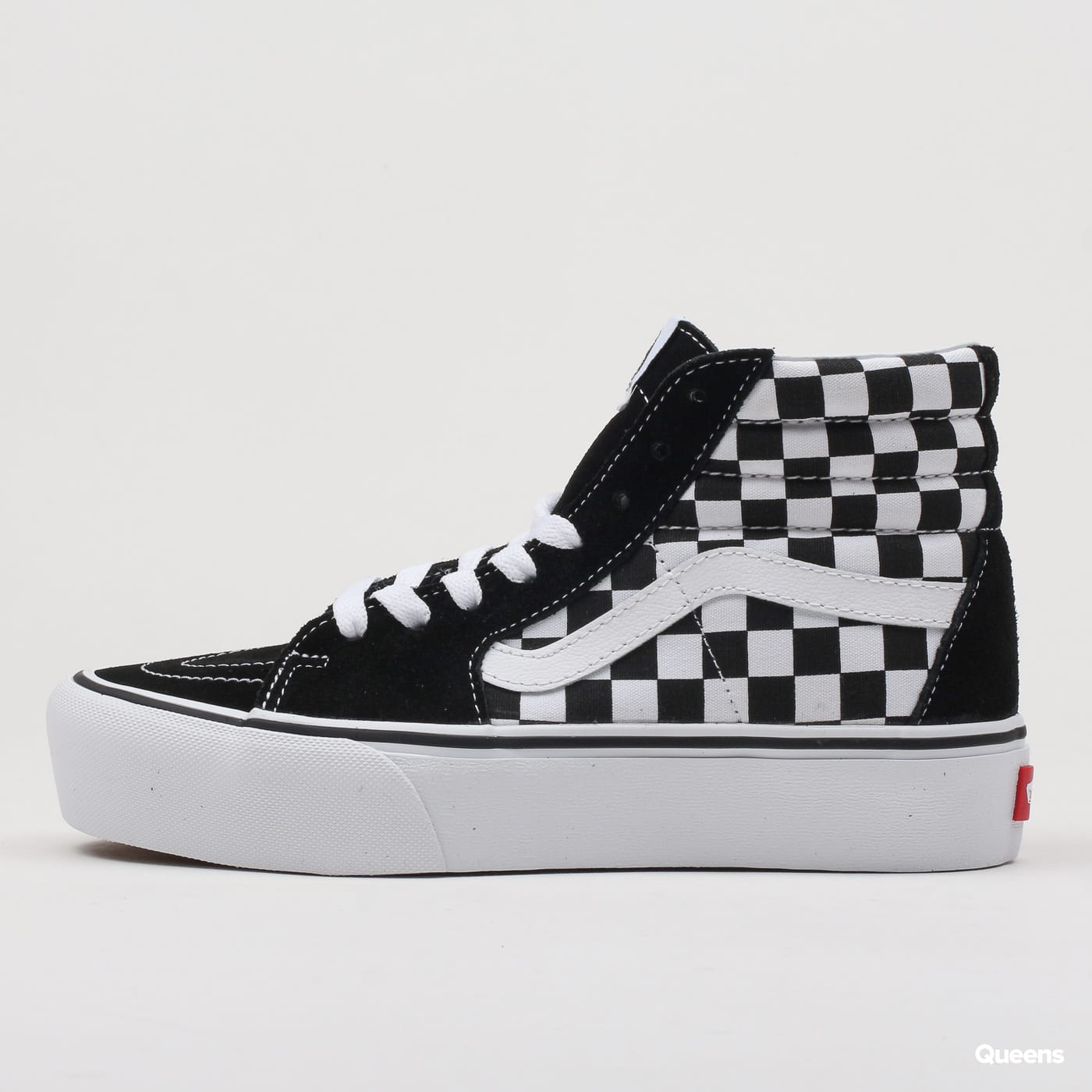 Vans SK8-HI Platform 2 checkerboard / true white