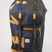 The Herschel Supply CO. Little America Backpack olivový / černý / navy / žlutý