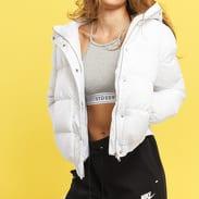 Urban Classics Ladies Hooded Puffer Jacket bílá