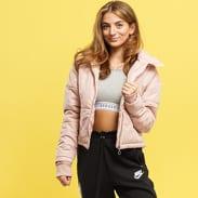 Urban Classics Ladies Oversized High Neck Jacket světle růžová