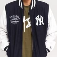 New Era Post Grad Pack Varsity Jacket NY navy / bílá