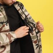 Urban Classics Camo Cotton Coach Jacket camo béžová / hnědá
