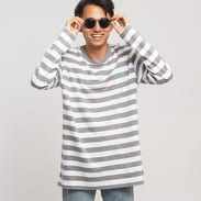 Diamond Supply Co. Striped LS Tee šedé / bílé
