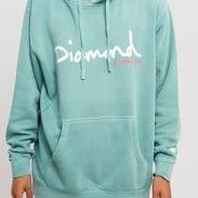 Diamond Supply Co. OG Script Pigment Dyed Hoodie světle tyrkysová