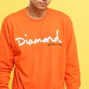 Diamond Supply Co. OG Script LS Tee oranžové