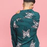 Stüssy Butterfly LS Shirt tmavě zelená