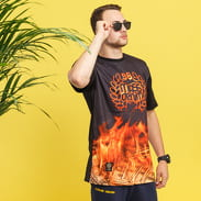 Mass DNM Burn Babylon Tee černé / oranžové