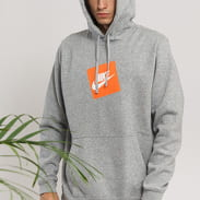 Nike M NSW HBR Hoodie PO Fleece Nike melange šedá