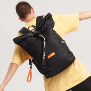 Urban Classics Nylon Backpack černý / neon oranžový