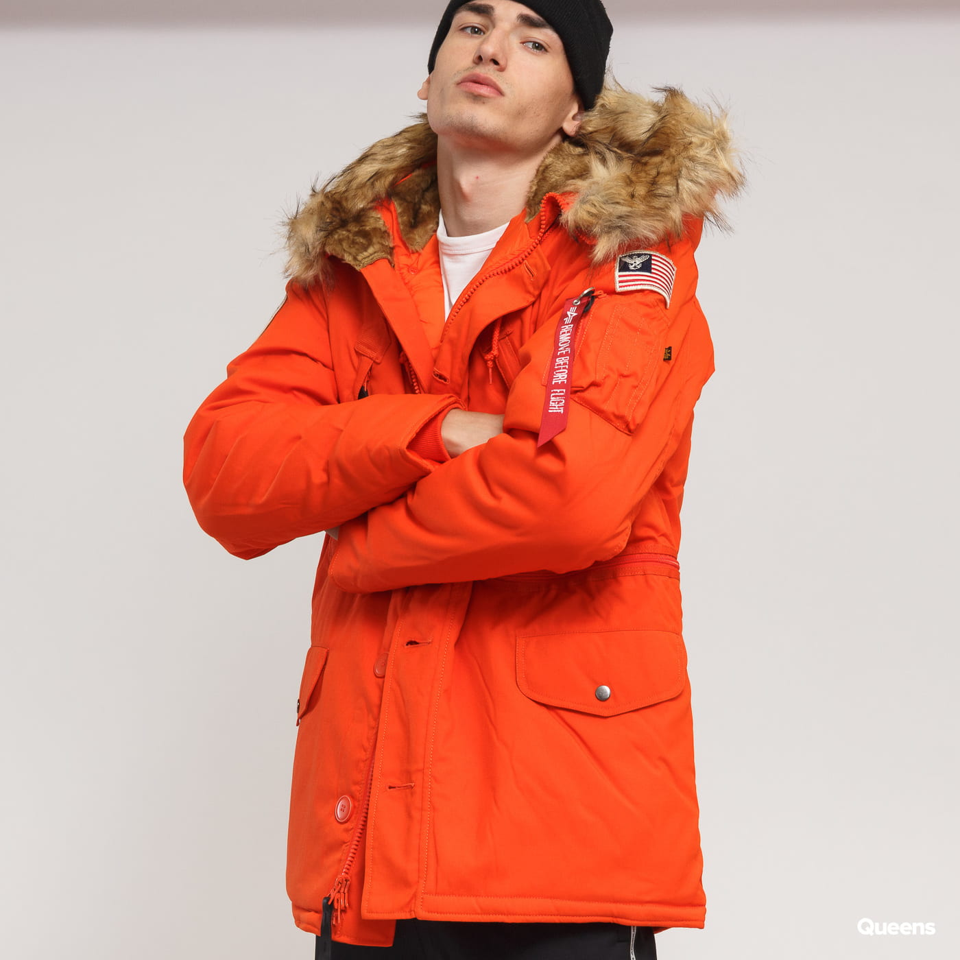Alpha Industries Winterjacke Polar Jacket Parka Black Größe