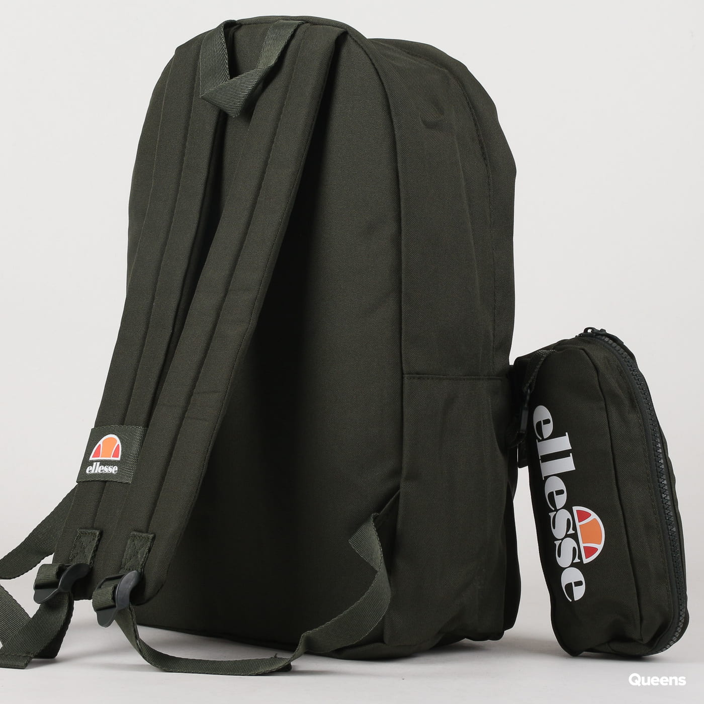 ellesse Rolby Backpack & Pencil Case dunkelolive