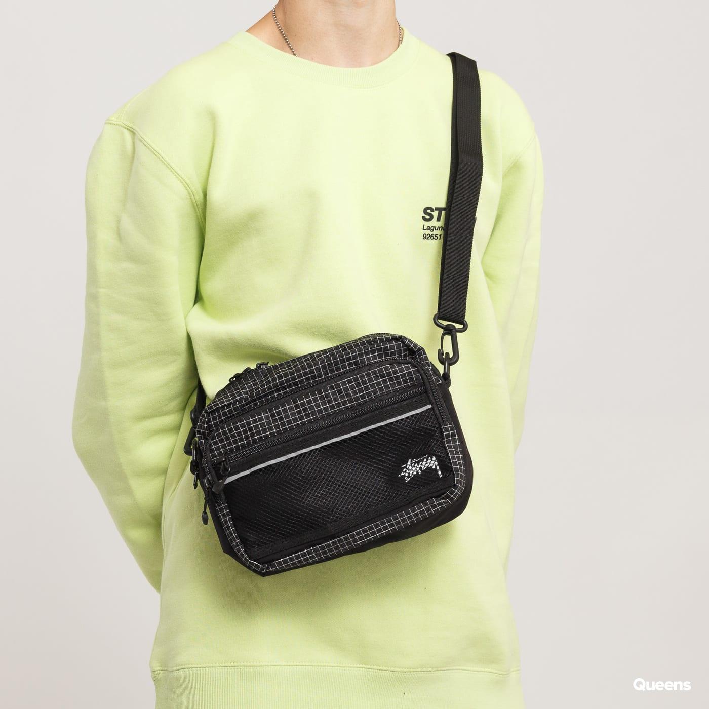 Stüssy Ripstop Shoulder Bag schwarz / weiß