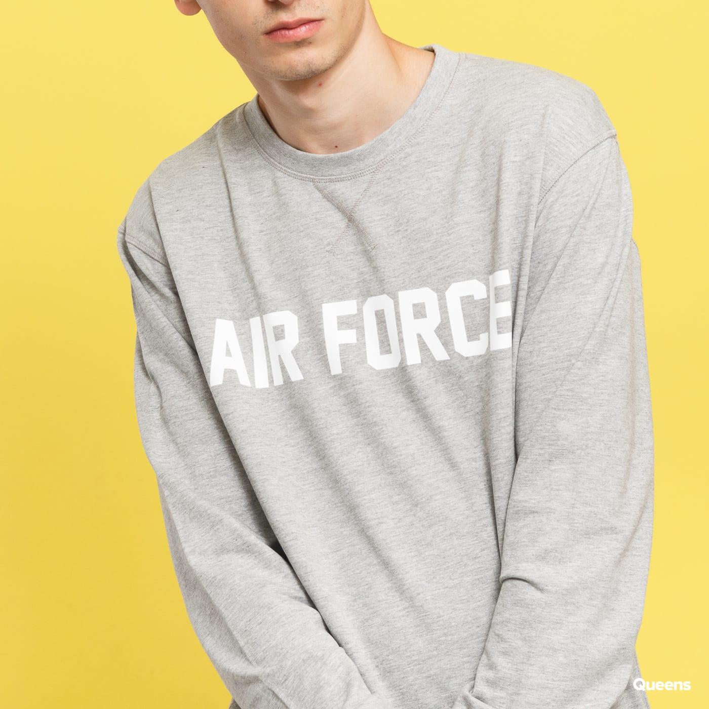 Urban Classics Air Force Lettering Crewneck melange šedá