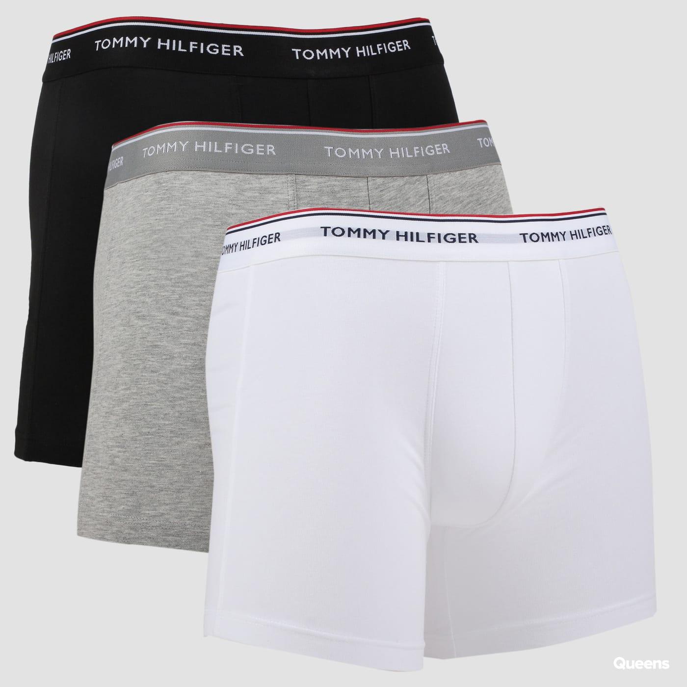 Tommy Hilfiger 3 Pack Boxer Brief čierne / melange šedé / biele