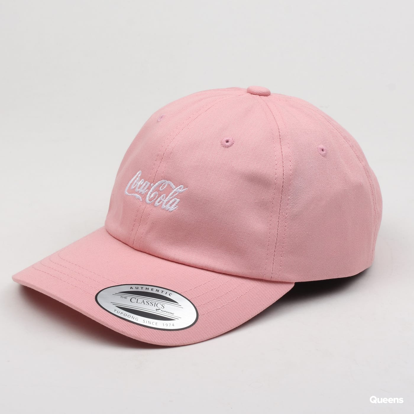 Yupoong Coca Cola Logo Dad Cap pink