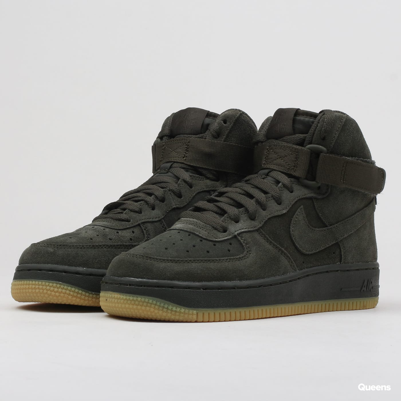 on sale c4410 e163b Nike Air Force 1 High LV8 (GS) sequoia   sequoia (807617-300) – Queens 💚