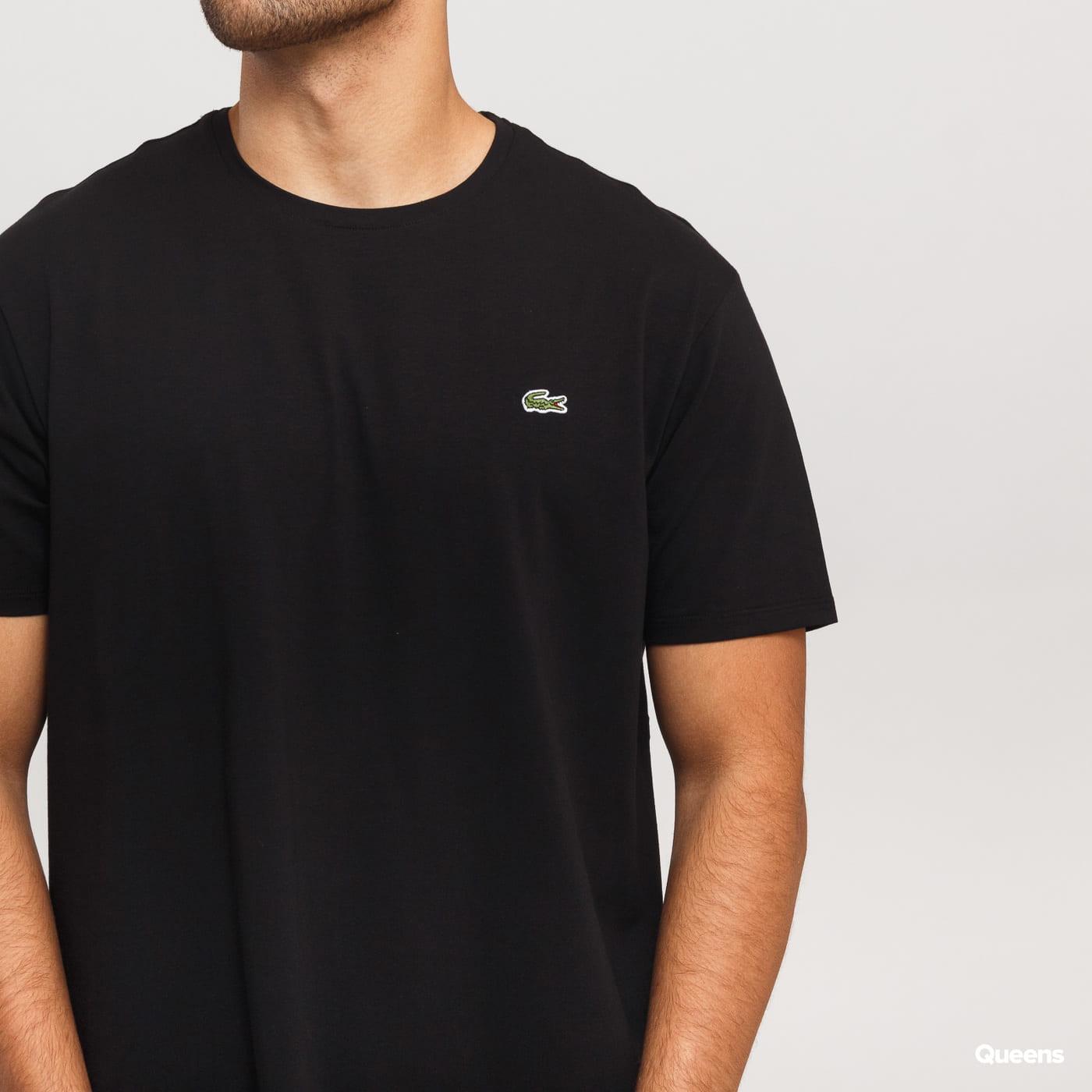 LACOSTE Base T-shirt čierne