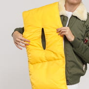 Daily Paper Puffer Scarf gelb