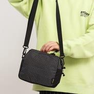 Stüssy Ripstop Nylon Shoulder Bag černá / bílá