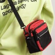 Stüssy Ripstop Nylon Shoulder Bag červená / černá / bílá