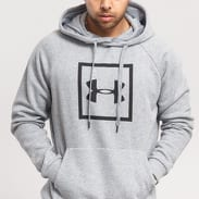 Under Armour Rival Fleece Logo Hoodie melange šedá