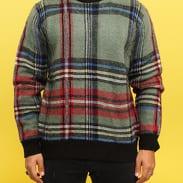 Stüssy Plaid Mohair Sweater zelený / multicolor