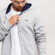 LACOSTE Full Zip Sweatshirt & Hoodie melange šedá