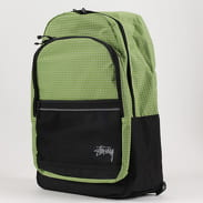 Stüssy Ripstop Nylon Backpack zelený / bílý / černý