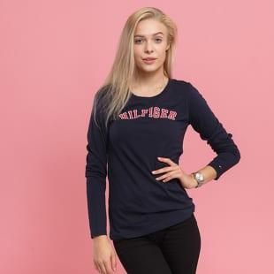 Dámske tričko s dlhým rukávom Tommy Hilfiger CN Tee LS Logo ... c0e61f20971