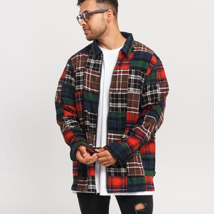 Stüssy Patchwork Zip Up LS Shirt