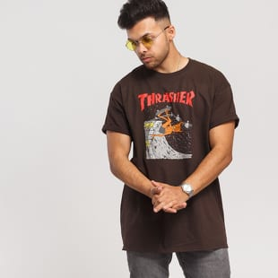 ccdcead75bdf Short Sleeve T-Shirts Thrasher Neckface Invert Tee brown – Queens 💚
