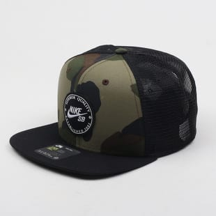 f64c45675594ee Cap Nike U NK Pro Cap Patch Trucker black / camo green (925293-222 ...