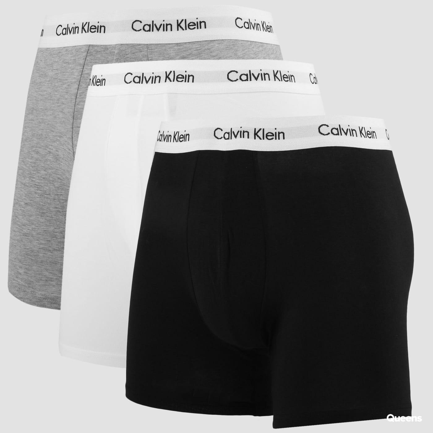 Calvin Klein Boxer Brief 3er-Pack melange grau / weiß / schwarz