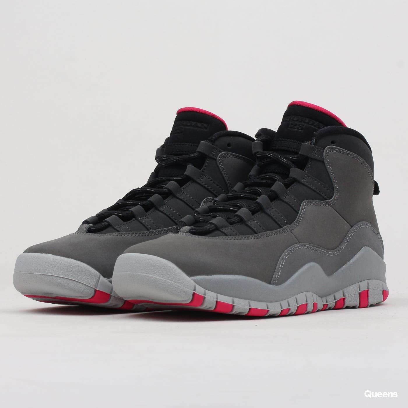 outlet store 5a980 0ef36 Jordan Air Jordan 10 Retro (GS) dk smoke grey / rush pink - black