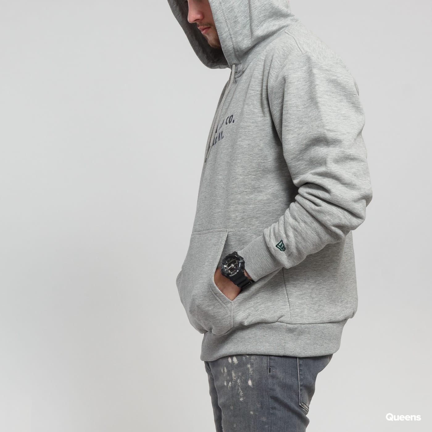 New Era Branded Hoody New Era melange šedá