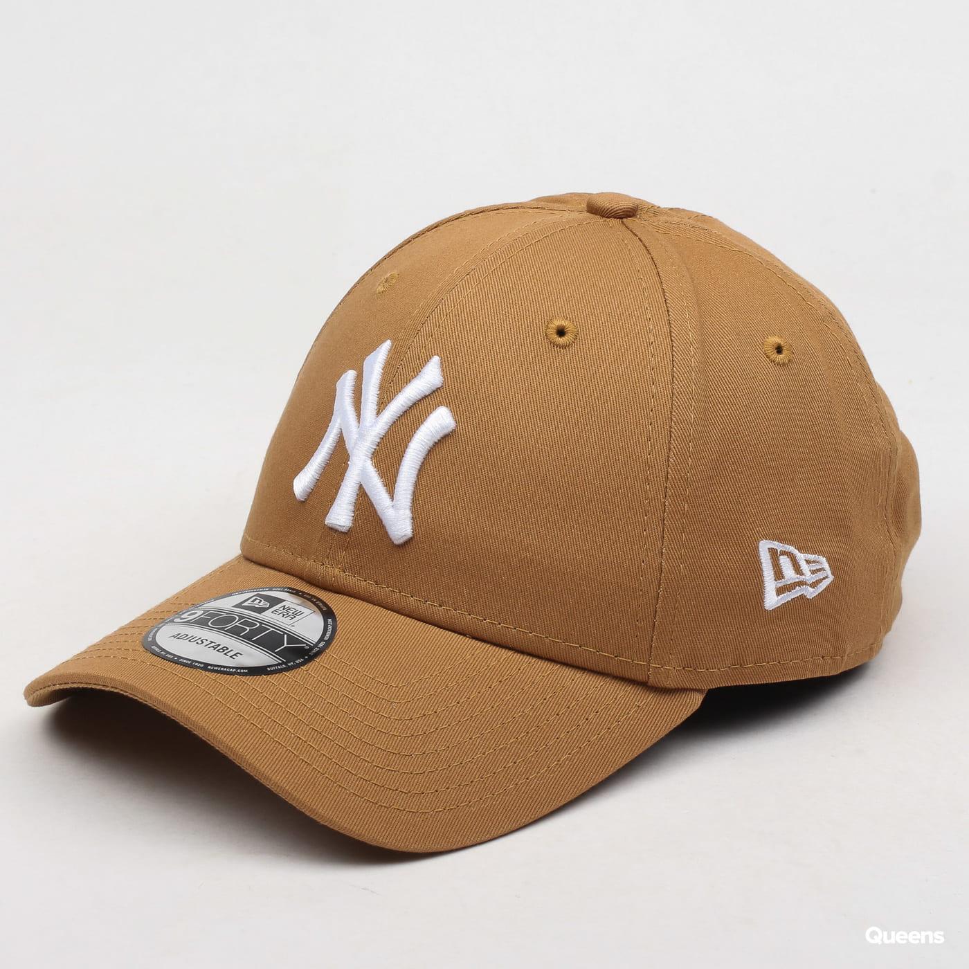 New Era 940 MLB League Essential NY light brown