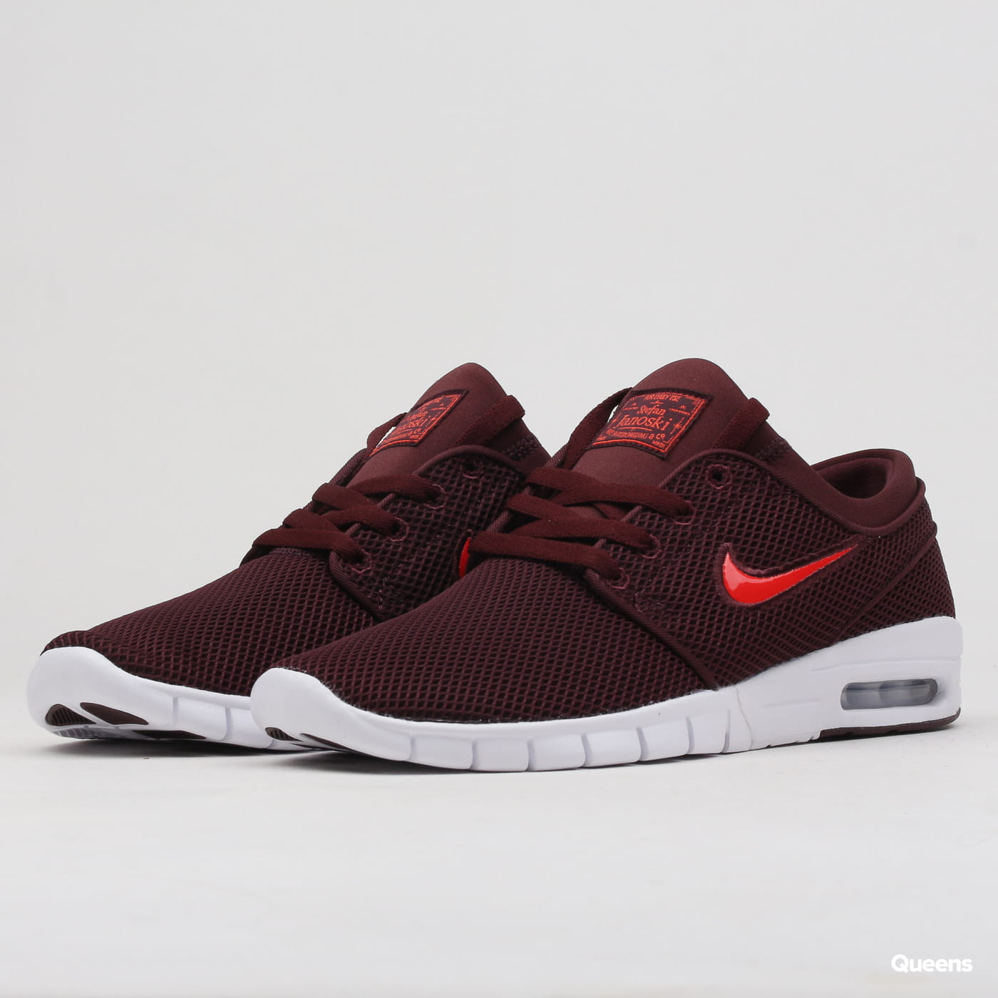 quality design ef1e7 7e635 Sneakers Nike Stefan Janoski Max burgundy crush / habanero red (631303-604)  – Queens 💚