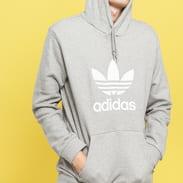 adidas Originals Trefoil Hoodie melange šedá