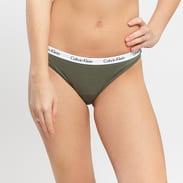 Calvin Klein Bikini - Slip 3 Pack olivové / fialové / bílé / světle růžové