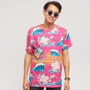 Pink Dolphin Summer Splash Tee růžové / multicolor