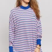 LAZY OAF Stripy Yeyes LS Tee růžové / modré / bílé